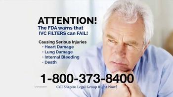 Shapiro Legal Group TV Spot, 'Blood Clot Filter' - Thumbnail 2