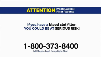 Shapiro Legal Group TV Spot, 'Blood Clot Filter' - Thumbnail 3