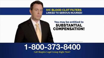 Shapiro Legal Group TV Spot, 'Blood Clot Filter' - Thumbnail 4