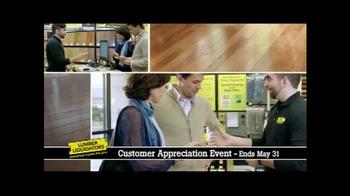 Lumber Liquidators Customer Appreciation Event TV Spot, 'First Steps' - Thumbnail 4