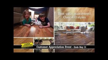 Lumber Liquidators Customer Appreciation Event TV Spot, 'First Steps' - Thumbnail 3
