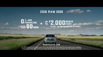 2016 Ram 1500 TV Spot, 'Longest-Lasting Pickups' Song by Gary Clark, Jr. - Thumbnail 6