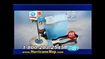 Hurricane Spin Mop TV Spot, 'Spins Dirt Away'