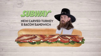 Subway Carved Turkey and Bacon Sandwich TV Spot, 'Thankful' - Thumbnail 1