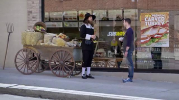 Subway Carved Turkey and Bacon Sandwich TV Spot, 'Thankful' - 763 commercial airings