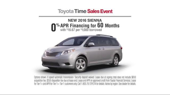 Toyota Time Sales Event TV Spot, '2016 Sienna' - Thumbnail 5