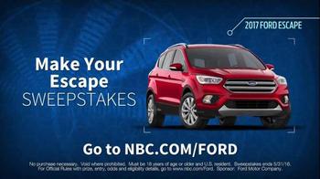 2017 Ford Escape TV Spot, 'NBC: Plus One' Featuring Ashley Johnson - Thumbnail 10