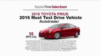 Toyota Time Sales Event TV Spot, 'Pit Stop: 2016 Prius' - Thumbnail 6