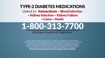 Kaiser Gornick LLP TV Spot, 'Diabetes Medications' - Thumbnail 8