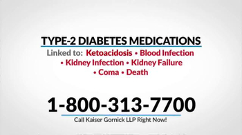 Kaiser Gornick LLP TV Spot, 'Diabetes Medications' - Thumbnail 5