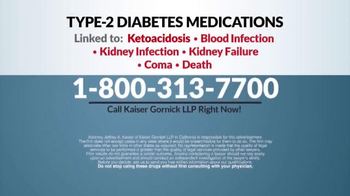 Kaiser Gornick LLP TV Spot, 'Diabetes Medications' - Thumbnail 7