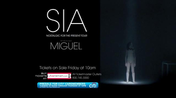 Sia: Nostalgic for the Present Tour TV Spot, 'Live in Concert' - Thumbnail 7