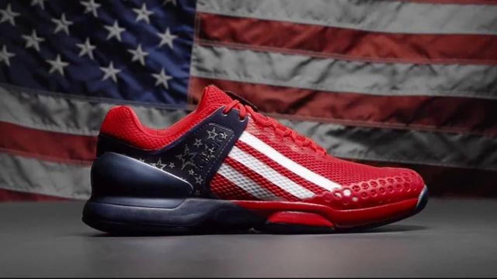buy popular 2a5e6 42dd3 Tennis Warehouse TV Commercial, adidas Adizero Ubersonic G Dub Shoe -  iSpot.tv