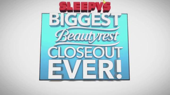 Sleepy's Biggest Beautyrest Closeout Ever TV Spot, 'Entire Collection'
