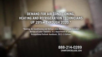 Charter College TV Spot, 'Heating and Refrigeration Technicians'