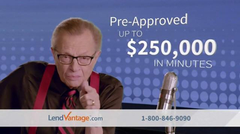 LendVantage TV Spot, 'Capital' Featuring Larry King - Thumbnail 4