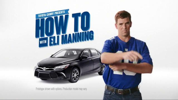 Toyota Camry TV Spot, 'How to With Eli Manning: Standard Backup Camera' - Thumbnail 2