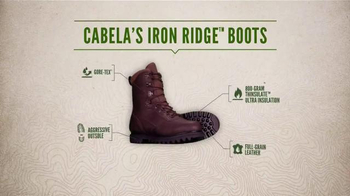 Cabela's Iron Ridge Hunting Boots TV Spot, 'The Boot That Stands Up' - Thumbnail 6
