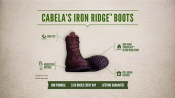 Cabela's Iron Ridge Hunting Boots TV Spot, 'The Boot That Stands Up' - Thumbnail 7