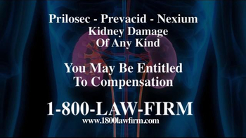 1-800-LAW-FIRM TV Spot, 'Heartburn Medication Kidney Damage'
