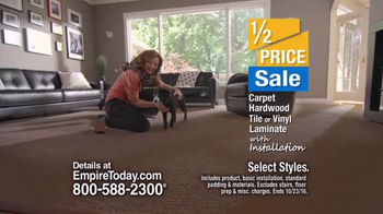 Empire Today Half Price Sale TV Spot, 'Carpet, Hardwood, Tile and More'