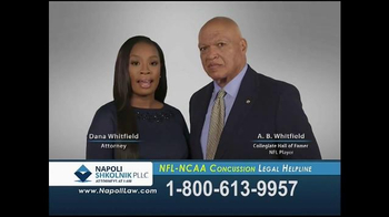 Napoli Shkolnik PLLC TV Spot, 'NFL-NCAA Concussion'