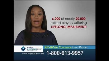 Napoli Shkolnik PLLC TV Spot, 'NFL-NCAA Concussion' - Thumbnail 4
