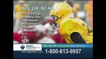 Napoli Shkolnik PLLC TV Spot, 'NFL-NCAA Concussion' - Thumbnail 9