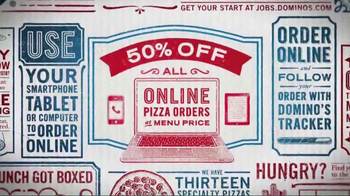 Domino's TV Spot, '50% Off All Pizzas' - Thumbnail 3
