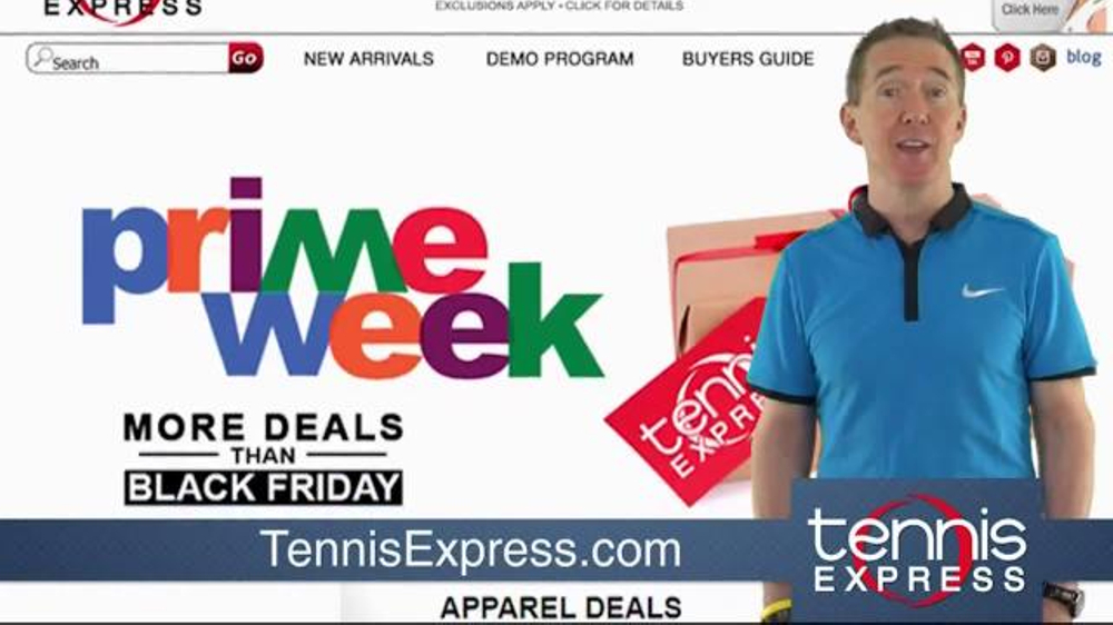 Tennis Express Prime Week Tv Commercial Better Than Black Friday