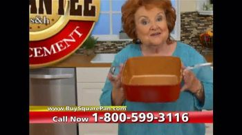 Red Copper Square Pan TV Spot, 'Double Cooking Space' - 145 commercial airings
