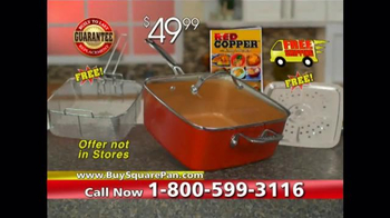 Red Copper Square Pan TV Spot, 'Double Cooking Space' - Thumbnail 9