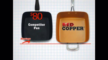Red Copper Square Pan TV Spot, 'Double Cooking Space' - Thumbnail 7