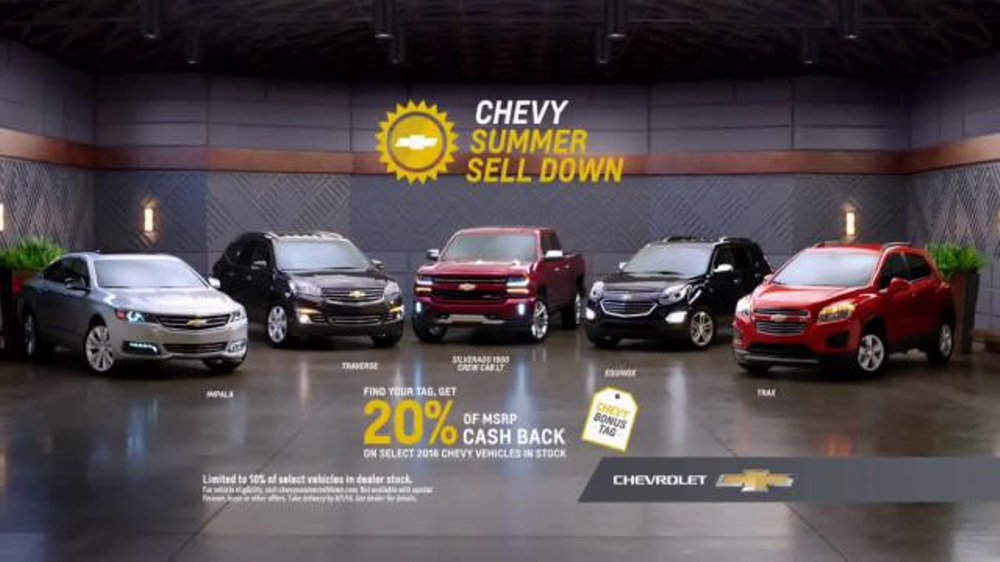 Chevrolet Summer Sell Down TV Commercial, 'Find Your Tag' - iSpot.tv