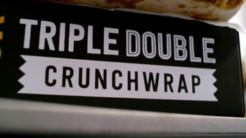 Taco Bell Triple Double Crunchwrap $5 Box TV Spot, 'No Sides' - Thumbnail 1