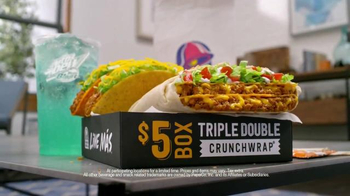 Taco Bell Triple Double Crunchwrap $5 Box TV Spot, 'No Sides' - Thumbnail 9