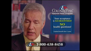 Colonial Penn TV Spot, 'Locked in for Life' Featuring Alex Trebek - Thumbnail 3