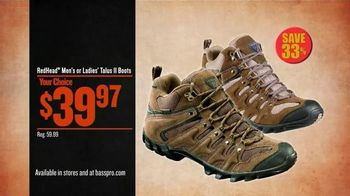 Bass Pro Shops Trophy Deals TV Spot, 'Totes, Hiking Boots & Game Camera' - 33 commercial airings
