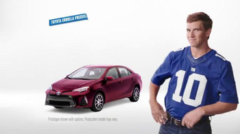 2017 Toyota Corolla TV Spot, 'How to With Eli Manning: Safety Sense' - Thumbnail 1