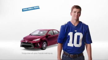 2017 Toyota Corolla TV Spot, 'How to With Eli Manning: Dramatic New Look' - Thumbnail 1