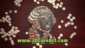 3D Coin Art American Flag TV Spot, 'Fun for the Family' - Thumbnail 3