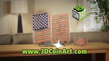 3D Coin Art American Flag TV Spot, 'Fun for the Family' - Thumbnail 4