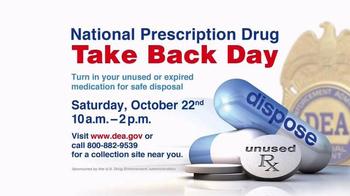 DEA TV Spot, '2016 National Prescription Drug Take Back Day' Ft. Mike Ditka - Thumbnail 3