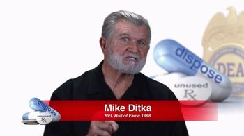 DEA TV Spot, '2016 National Prescription Drug Take Back Day' Ft. Mike Ditka - 5 commercial airings