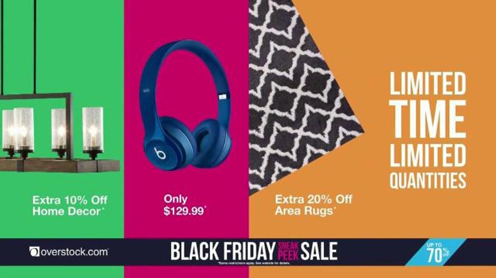Overstock Com Black Friday Sneak Peek Sale Tv Commercial