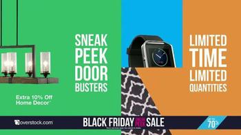 Overstock.com Black Friday Sneak Peek Sale TV Spot, 'Early Doorbusters' - Thumbnail 3
