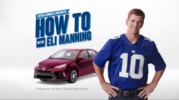 2017 Toyota Corolla TV Spot, 'How to With Eli Manning: Stylish Interior' - Thumbnail 2