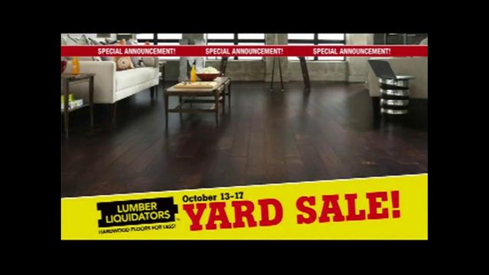 Lumber Liquidators Fall Flooring Yard Sale TV Commercial, 'Special Announcement'