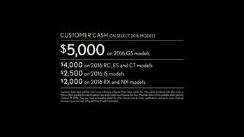Lexus ES TV Spot, 'You Time: Customer Cash' - Thumbnail 5