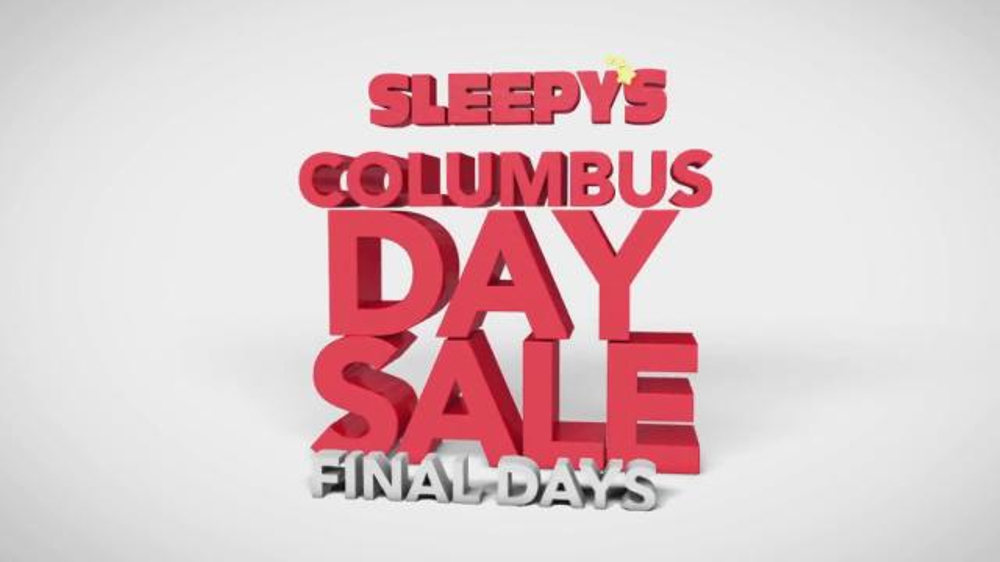 Sleepy S Columbus Day Sale Tv Commercial Finals Days Of